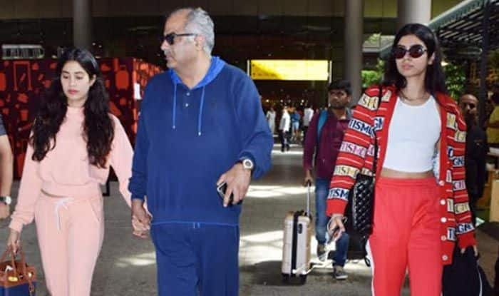 Janhvi Kapoor, Khushi Kapoor And Boney Kapoor Head Back to Mumbai After Holidaying in London; See Pictures