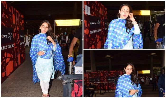 Sara Ali Khan Heads Back To Mumbai After Shooting For Simmba In Hyderabad – View Pics