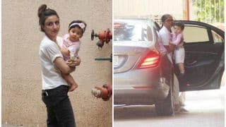 Did Inaaya Naumi Kemmu And Taimur Ali Khan Have A Play Date At Aunt Karisma Kapoor's Residence? View Pics
