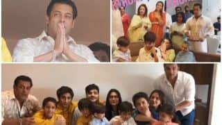 Salman Khan Waves At His Fans, Directs Family To Scream Eid Mubarak And Sings Happy Birthday For Sohail Khan's Son, Yohan – View Pics & Videos