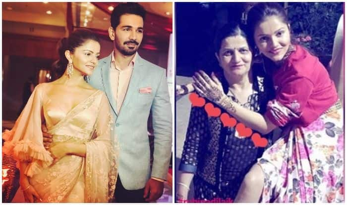 Rubina Dilaik and Abhinav Shukla Wedding: The Bride To Be Poses With Her Mommy as She Gets Her  Bridal Mehendi Done