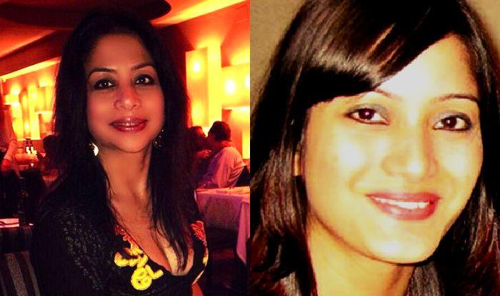 Indrani Mukerjea (Left), Sheena Bora