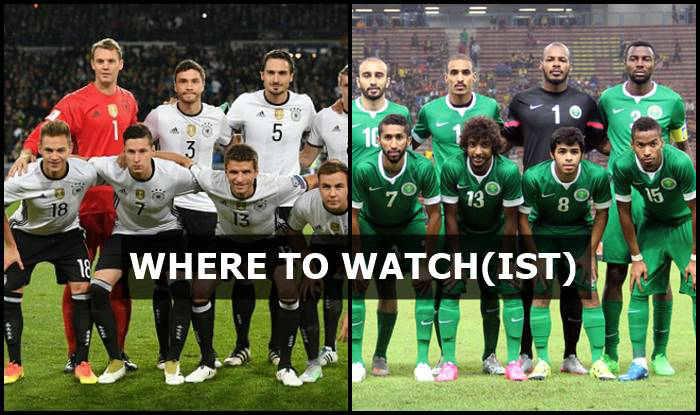 Germany vs Saudi Arabia