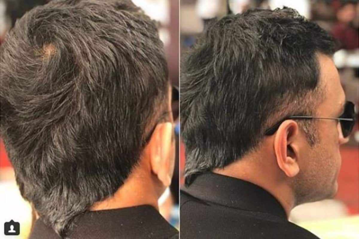 "ms dhoni flaunts new hair style, the old ""v hawk"" is back"