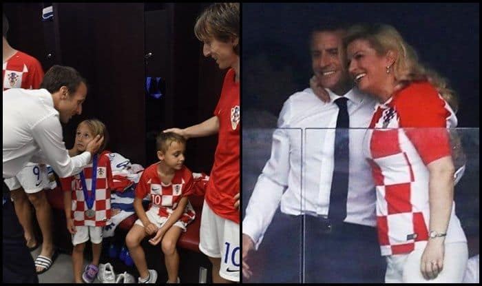 923604ac0 FIFA World Cup 2018 Finals: Croatian President Kolinda Grabar-Kitarovic And  French president Emmanuel Macron Hug The Most Trending Picture of Monday