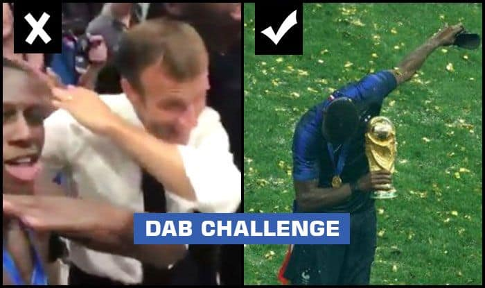 Fifa World Cup 2018 Final After Paul Pogba French President Emmanuel Macron Attempts The Dab After France Beat Croatia Fails Miserably Watch India Com