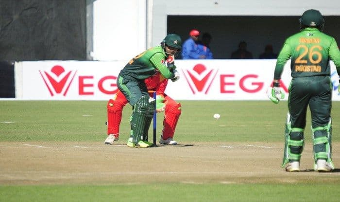 Fakhar Zaman in action against Zimbabwe during 4th ODI_ICC