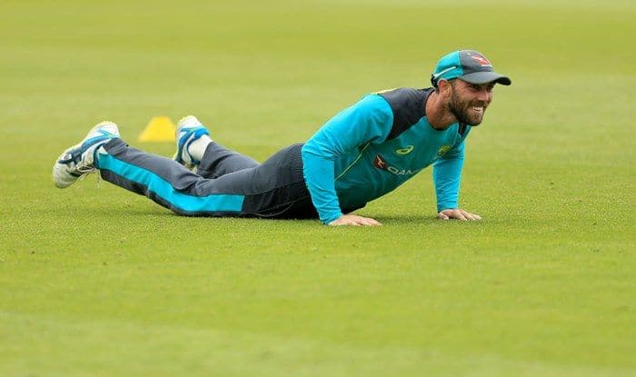 File image of Glenn Maxwell during an Australia Net Session in London_Getty