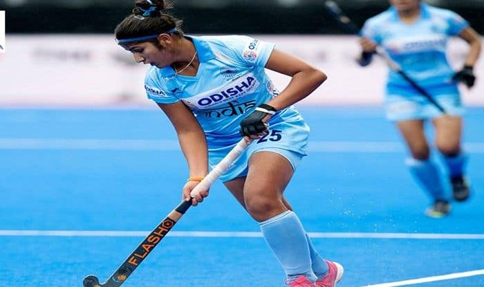 India Women's Team in action during Women's hockey World cup_Hockey India