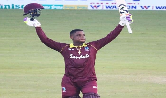 Shimron Hetmyer in action during 2nd ODI vs Bangladesh_WestIndies Twitter