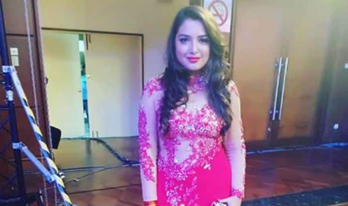 Bhojpuri Bomb Amrapali Dubey Looks Super Hot in See-Through Red Dress in Malaysia