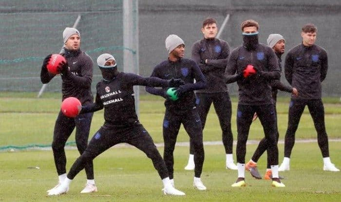 FIFA World Cup 2018: England Battle Rain In Training Session Ahead of Sweden Quarter-Final Clash