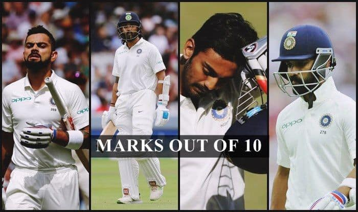 India vs England 2nd Test At Lord's Report Card: Virat Kohli, Cheteshwar Pujara to Murali Vijay, Ajinkya Rahane, How They fared Against Joe Root's Side