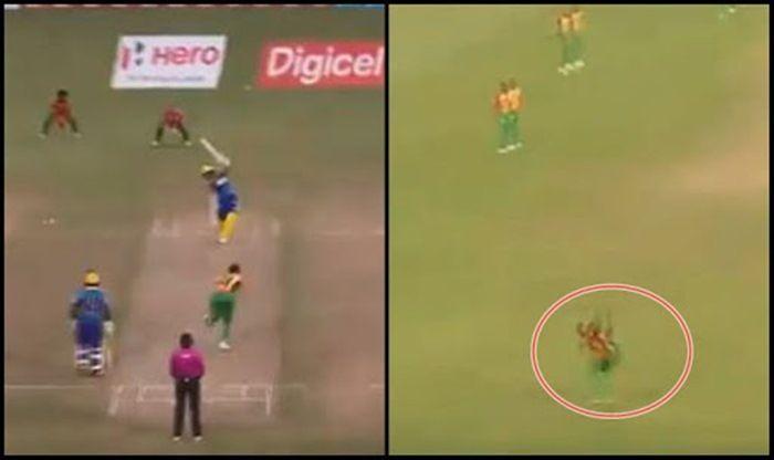 CPL 2018Barbados Tridents vsGuyana Amazon Warriors:Rayad Emrit Takes A One-Handed Blinder To DismissMartin Guptill---Watch Video