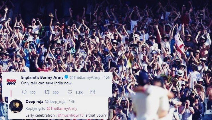 India vs England 3rd Test Nottingham: Barmy Army Gets Trolled For Asking Rain, as Virat Kohli-Led India Trash Joe Root's England at Trent Bridge