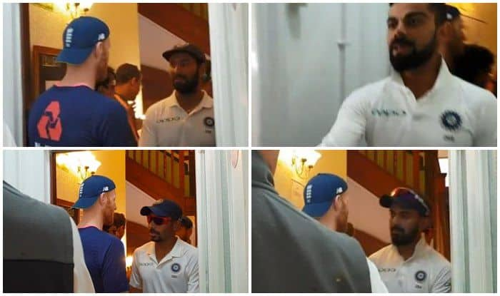India vs England 3rd Test Nottingham: Virat Kohli-Led India Shake Hands With Ben Stokes And English Cricket Team in Dressing Room — WATCH