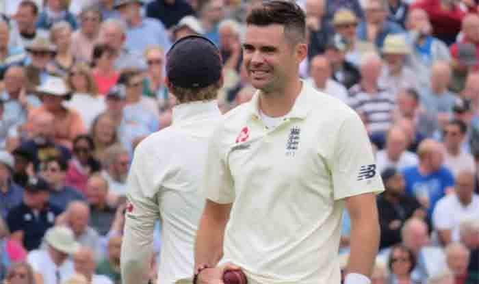 James Anderson in action against India during 5th Test_Getty