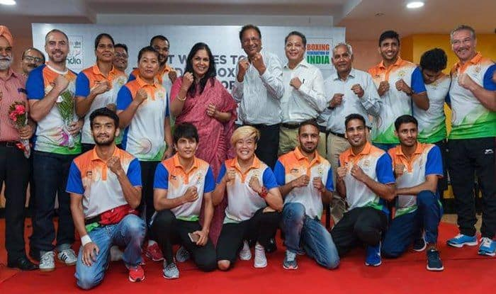 Asian Games - Indian Boxers leaving for the event_PTI