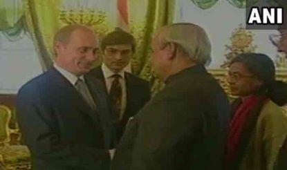 अटल बिहारी वाजपेयी और रूसी राष्ट्रपति व्लादिमीर पुतिन.