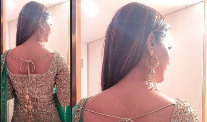 Bigg Boss 11 Finalist Hina Khan Looks Mesmerisingly Hot in Golden And Green Ethnic Wear; Reveals Her Eid Al-Adah Avatar- View Pictures