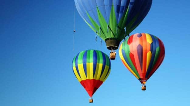 Hot air ballooning destinations in India