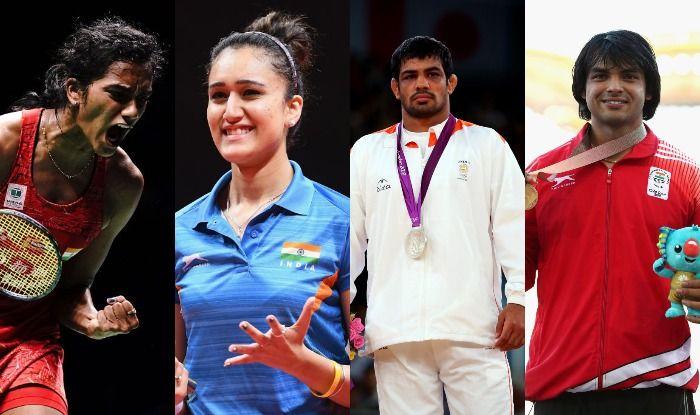 PV Sindhu, Manika Batra, Sushil Kumar and Neeraj Chopra_Getty