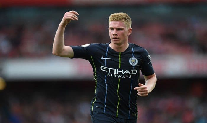 Kevin De Bruyne of Manchester City looks on during the Premier League match between Arsenal FC and Manchester City at Emirates Stadium_Getty