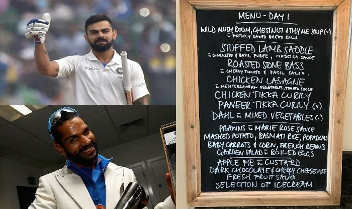 Lunch Menu at Lord's on Day 1 of second Test between India and England_Getty and BCCI Twitter