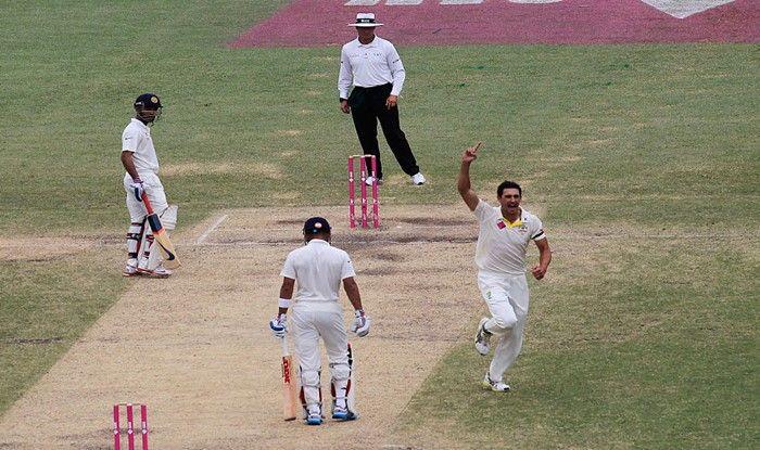 File Image of Mitchell Starc celebrates Virat Kohli's wicket_Getty