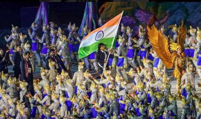 Javelin Thrower Neeraj Chopra was India's flag-bearer of Indian contingent at Asian Games 2018_Twitter