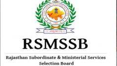 RSMSSB PTI 2018 DV Dates: डॉक्यूमेंट वेरिफिकेशन की तारीख घोषित, यहां देखें