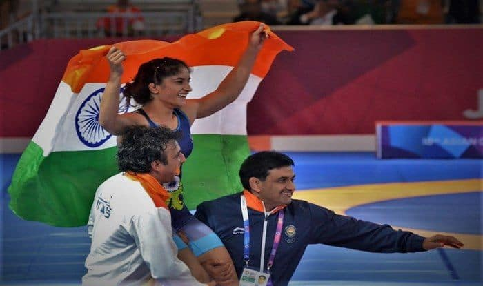 Vinesh Phogat wins Asiad 2018 Gold in 50kg freestyle_Twitter
