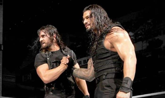 WWE Wrestlers Roman Reigns and Seth Rollins