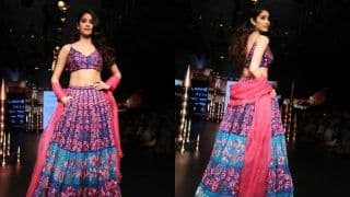 Lakme Fashion Week 2018: Dhadak Actress Janhvi Kapoor Sets The Ramp on Fire as She Makes Her Showstopper Debut, See Pics