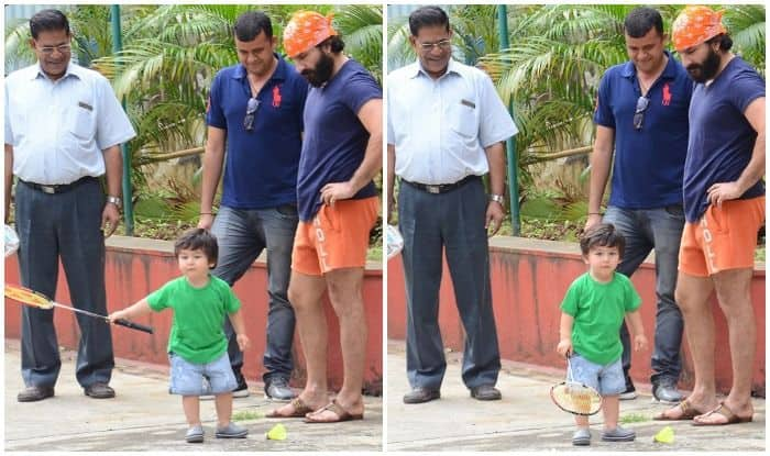 Taimur Ali Khan Plays Badminton With Daddy Saif Ali Khan And it is The Cutest Thing You Will See on The Internet Today – See Pics