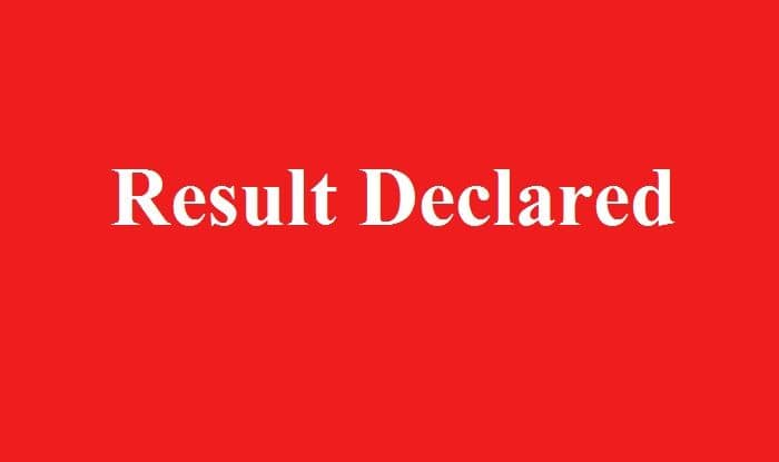 Result released