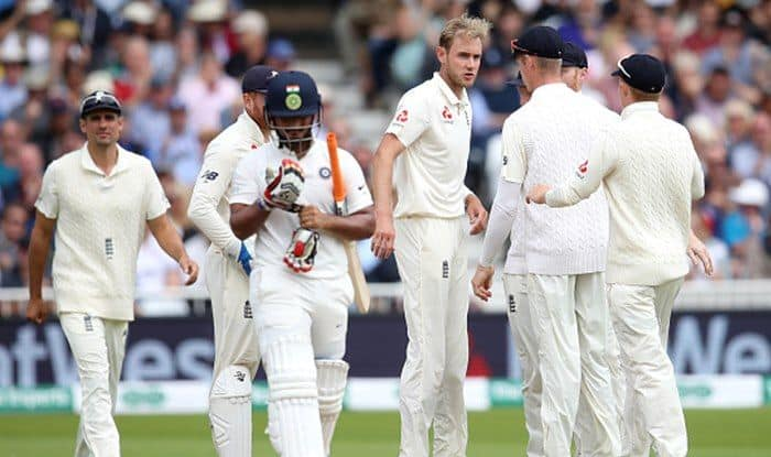 India vs England 3rd Test: Stuart Broad Fined 15 Per Cent of Match-Fee For Rishabh Pant Send-Off
