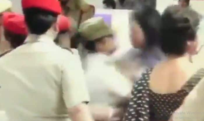 TMC Delegation Detention: Video Shows Party MP Mahua Moitra Assaulting Lady Constable at Silchar Airport