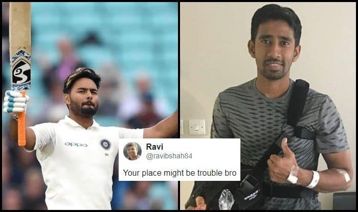 India vs England 2018 Tests: Wriddhiman Saha Gets Trolled After His Congratulatory Message For Rishabh Pant