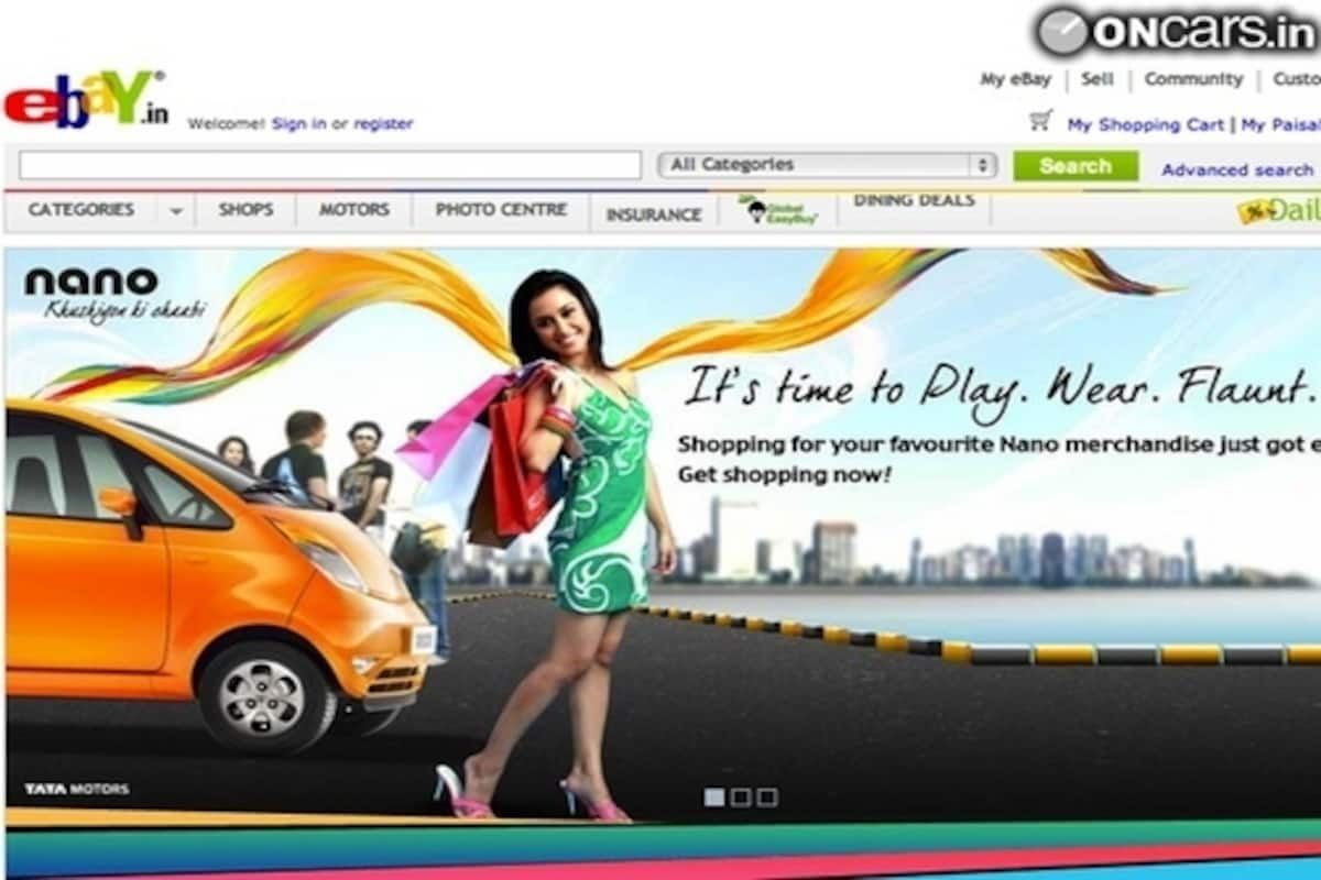 Tata Nano Merchandise Online Store Launched On Ebay India Com