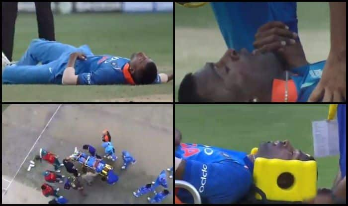 Asia Cup 2018, India vs Pakistan 5th ODI: Hardik Pandya Stretchered After he Falls While Bowling to Babar Azam –WATCH