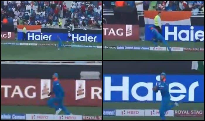 Asia Cup 2018, India vs Pakistan 5th ODI: Super Sub Manish Pandey Takes Brilliant Catch to Dismiss Sarfraz Ahmed of Kedar Jadhav's Bowling — WATCH