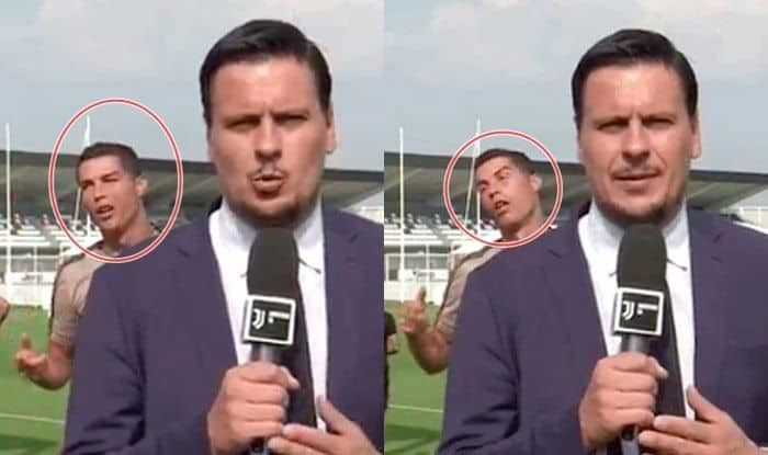 Cristiano Ronaldo Videobombs a Journalist; Makes Faces Like a Zombie During Juventus Practice — WATCH