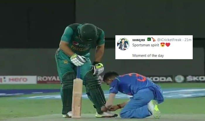 Asia Cup 2018, India vs Pakistan 5th ODI: Yuzvendra Chahal Ties Shoe Laces of Pakistan Player, Wins Hearts With Generous Gesture — SEE PIC