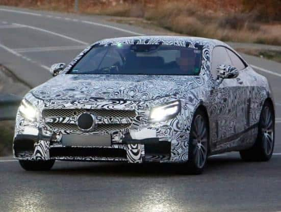 Mercedes Benz S63 AMG coupe spied