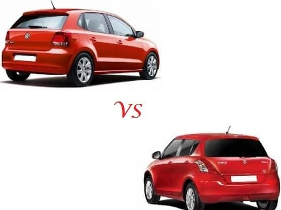 Comparison Volkswagen Polo Vs Maruti Suzuki Swift Compare Price Technical Specifications India Com