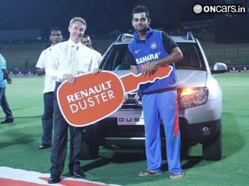 Virat Kohli takes home Renault Duster SUV after winning 'Man of the Series' title in Sri Lanka