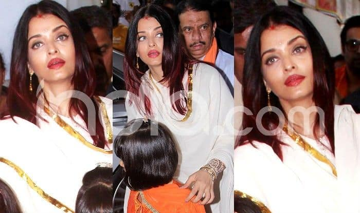 Aishwarya Rai Bachchan's Sindoor Look as She Visits Ganpati Pandal With Aaradhya is Simply Pretty; See Pics