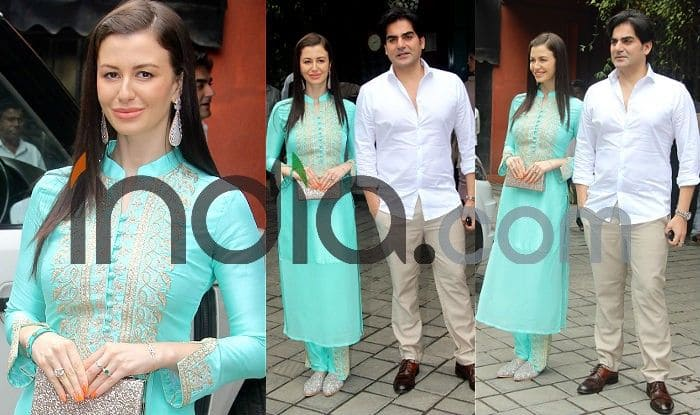 Arbaaz Khan And Georgia Andriani Pose Together Again at Arpita Khan Sharma's Ganpati Celebration; Check New Pics