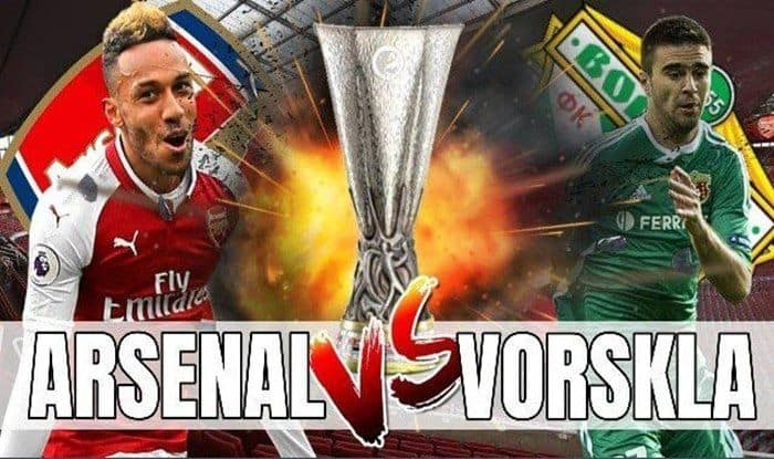 Arsenal vs Vorskla_picture credits -twitter